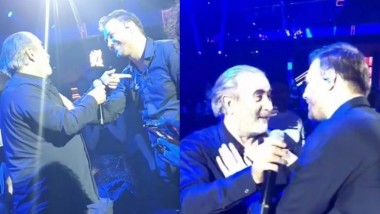 Ο Λάκης Λαζόπουλος τραγούδησε με τον Γιώργο Σαμπάνη